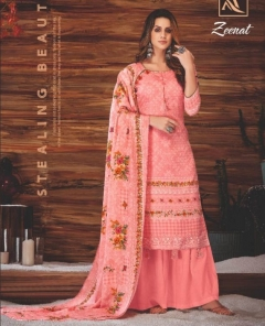 Alok Present Zeenat Casual Wear Dress Material collection