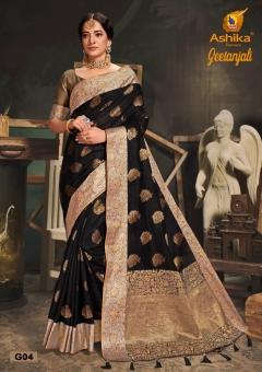 Ashika Presents  Geetanjali Banarasi Silk Saree Collection