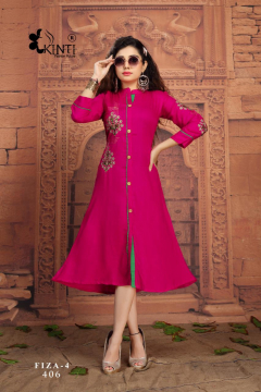 Kinti Fiza Vol 4  Buy Designer Fancy Party wear Kurtis Online in Surat