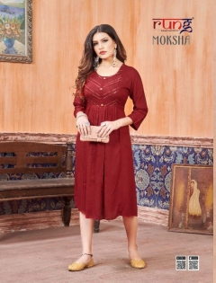 Rung presents  Moksha  Casual Wear  Kurtis Collection