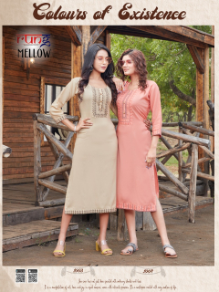 Rung Mellow Casual Wear Rayon Kurtis catalog