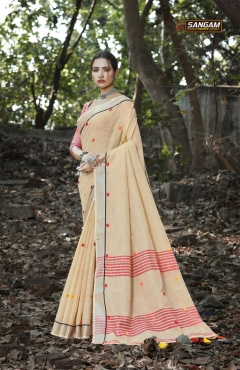 Sangam presents  Sangeet Casual Wear  Sarees Collection
