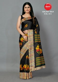 Apple presents Galaxy silk vol 43 Casual Wears Sarees Collection