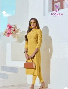 Classic Beauty  by Poonam Designer Heavy Rayon Kurti Collection