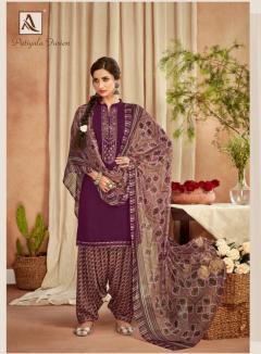 Alok Patiyala Fusion Printed Cotton Dress Material Latest Design Wholesale