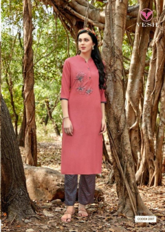 Vesh Heena Designer Catalogue Kurtis With Palazzo Full Set