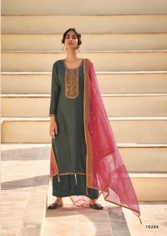 Deepsy presents Adriti Designer Festive Wear Dress Material
