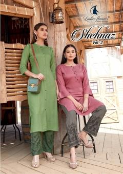 Ladies Flavour presents  Shehnaz vol 2 Designer Kurti With Bottom