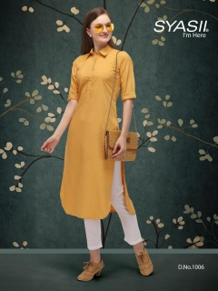 Syasii By Classic  vol 1 Regular Wear Straight Cut Kurti Collection