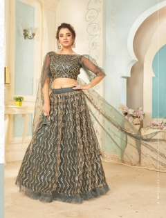 Fc Presents Glamour 1007 Designer grey blue Lehenga Collection