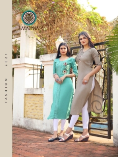 Aradhna  presents Parrot  vol 7 Ethnic Wear  Kurtis Collection