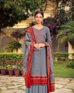 Farda By Levisha Designer Satin Cotton Dress Material Collection