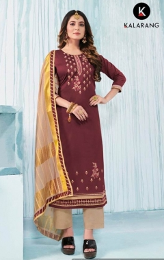 Kalarang Present Jasmine Vol 6 Festival Wear Dress Material Collection