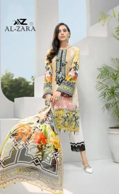 Al Zara Presents Mannat Vol 5 Pure Cotton Karachi Dress Wholesale