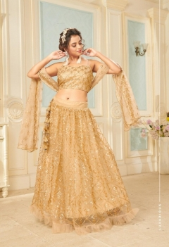 Fc Presents Glamour 1006 sequin golden Lehenga Collection