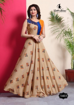Lovely By Ladies Flavour Anarkali Long Kurtis Catalogue