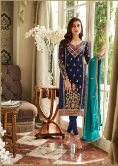 Mbroidered present Aashirwad  Real Georgette Embroidered Salwar Suits collection