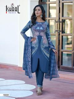 Ishaal Gulmohar Vol 18 Party Wear Karachi Cotton Dress Material