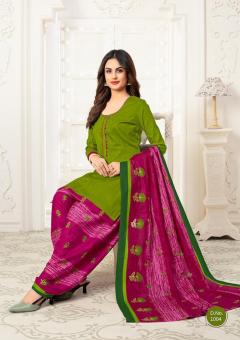 Meenaxi New Lunching Queen Patiyala Dress Cotton Catalog
