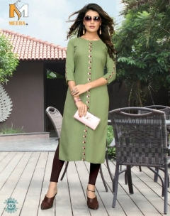 Ramzat present Meerali  Rayon Straight Kurti Collection