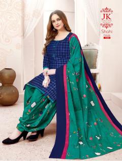 JK Shahi Patiala Vol 7 Cotton Dupatta Wholesale Ready Made Dress Material Manufacturer Catalog