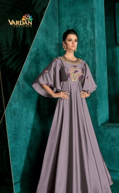 Rozi Vol 1 By Vardan Designer Wedding Wear Long Gown Collection