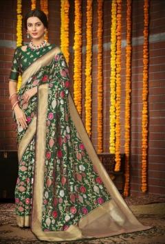 Shangrila present Khushi Silk Designer Festive Wear Silk Saree Collection