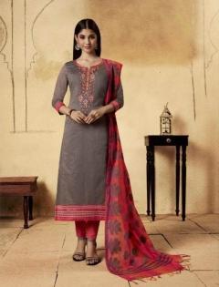 Swagat by Kessi  Designer Banarasi Chanderi Dress Material